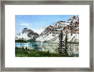 Bow Lake Alberta No.2 Framed Print by Debbie Homewood