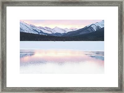 Bow Valley In Kananaskis Country Framed Print by Carol Cottrell
