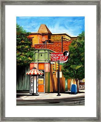 Bow Wah Chop Suey Framed Print by David Kyte