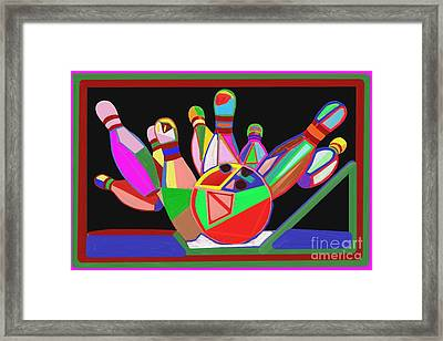 Bowling Sports Fans Decoration Acrylic Fineart By Navinjoshi At Fineartamerica.com  Down Load  Jpg F Framed Print by Navin Joshi