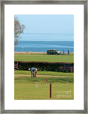 Bowls And Coastguards Framed Print by David  Hollingworth