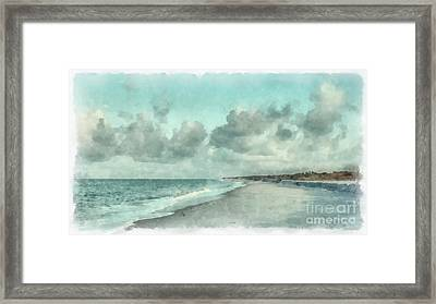 Bowman Beach Sanibel Island Florida Framed Print by Edward Fielding