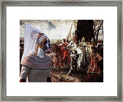 Boxer Art Canvas Print - The Reverence To The Queen  Framed Print by Sandra Sij