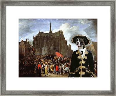Boxer Art Canvas Print - Waiting For The Statue Of Mary Framed Print by Sandra Sij