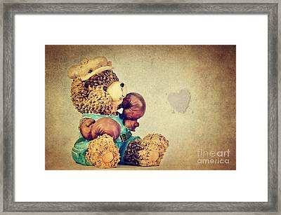 Boxer Bear II Framed Print by Angela Doelling AD DESIGN Photo and PhotoArt