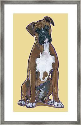 Boxer Bentley Framed Print by Nadi Spencer