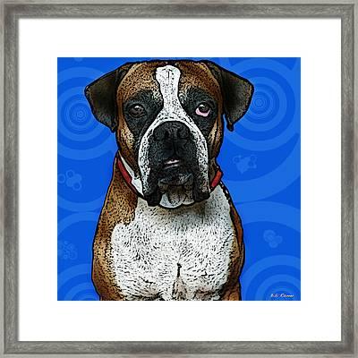 Boxer Framed Print by Bibi Romer