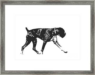 Boxer Dog Tee Framed Print by Edward Fielding