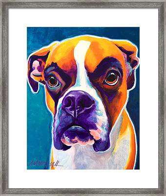 Boxer - Koda Framed Print by Alicia VanNoy Call