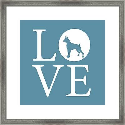 Boxer Love Framed Print by Nancy Ingersoll
