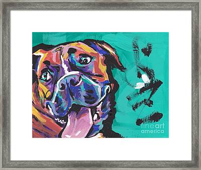 Boxer Luv Framed Print by Lea S