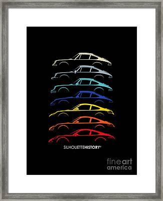Boxer Sports Car Silhouettehistory Framed Print by Gabor Vida