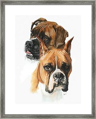Boxers Framed Print by Barbara Keith