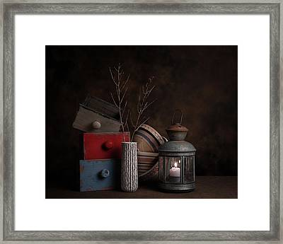Boxes And Bowls Framed Print by Tom Mc Nemar