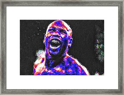 Boxing Floyd Money Mayweather Painted Framed Print by David Haskett