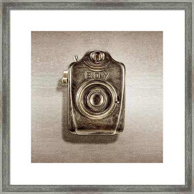 Boy Camera Front Framed Print by YoPedro
