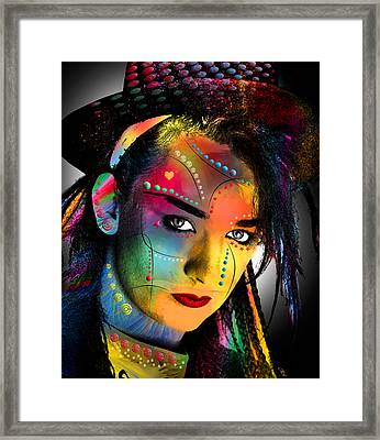 Boy George  Framed Print by Mark Ashkenazi