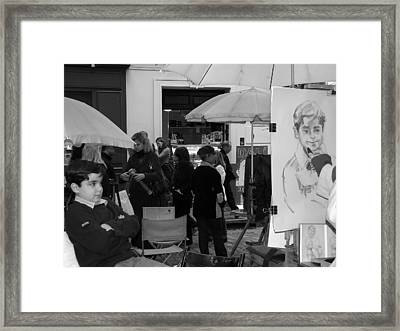 Boy In Montmartre Framed Print by Diane Height