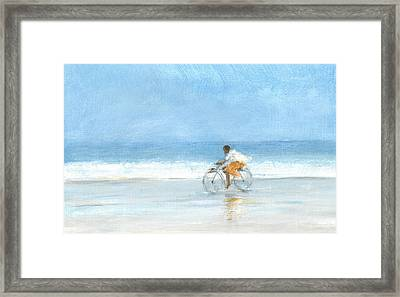 Boy On A Bike  One Framed Print by Lincoln Seligman