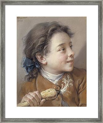 Boy With A Carrot, 1738 Framed Print by Francois Boucher