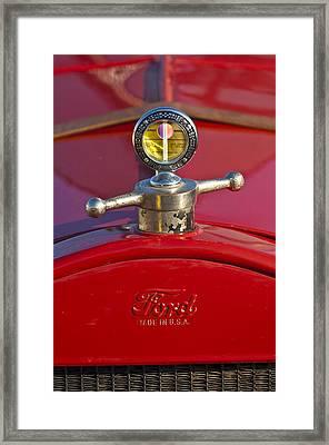 Boyce Motometer Hood Ornament Framed Print by Jill Reger