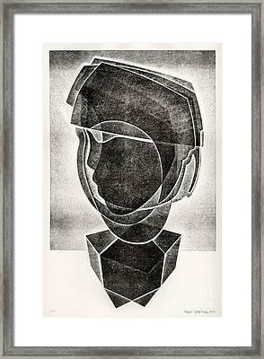 Boy's Head Framed Print by Alex Kveton