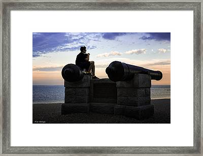 Boys On The Canons Framed Print by Fran Gallogly