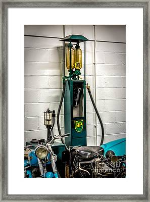 Bp Gas Pump Framed Print by Adrian Evans
