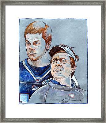 Brady And Belichick Framed Print by Dave Olsen