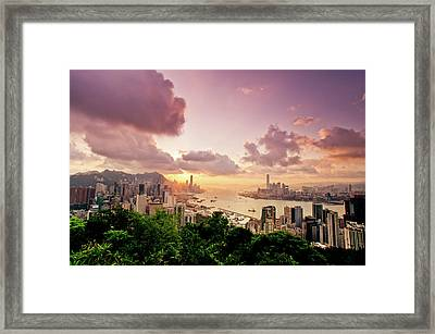 Braemar Hill Sunset Framed Print by Dragon For Real