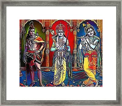 brahma siva Krisna - My WWW vikinek-art.com Framed Print by Viktor Lebeda