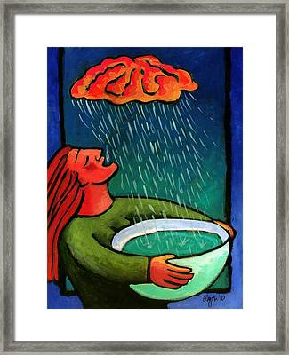 Brain Storm Painting 57 Framed Print by Angela Treat Lyon