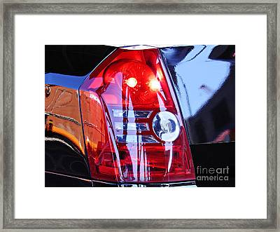 Brake Light 65 Framed Print by Sarah Loft