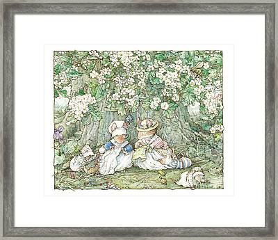 Brambly Hedge - Hawthorn Blossom And Babies Framed Print by Brambly Hedge
