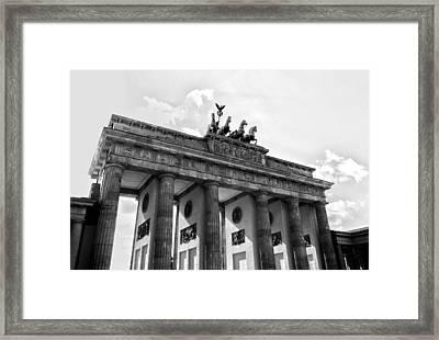Brandenburg Gate - Berlin Framed Print by Juergen Weiss
