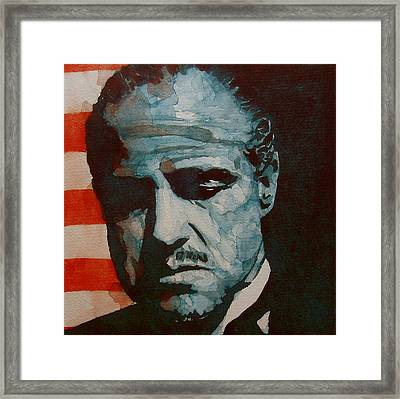 Brando Framed Print by Paul Lovering
