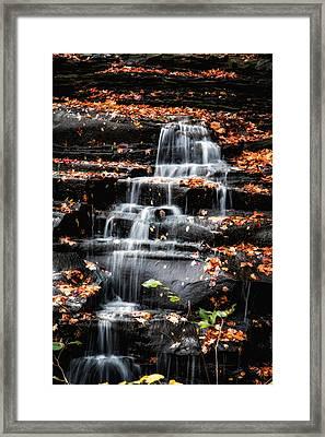 Brandywine Falls In Autumn Framed Print by Tom Mc Nemar
