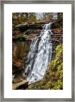 Brandywine Falls Framed Print by Tom Mc Nemar