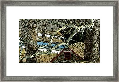 Brandywine Springhouse Framed Print by Gordon Beck