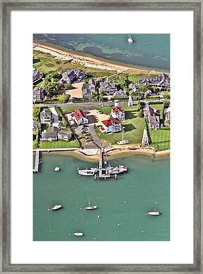 Brant Point Coast Guard Station Nantucket Harbor 2 Framed Print by Duncan Pearson