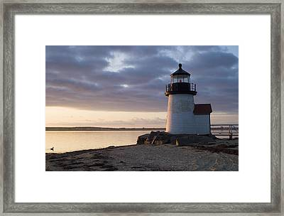 Brant Point Light Number 1 Nantucket Framed Print by Henry Krauzyk