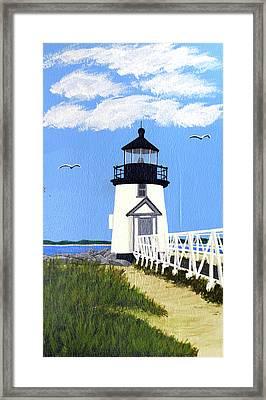 Brant Point Lighthouse Painting Framed Print by Frederic Kohli