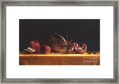 Brass Basket Framed Print by Larry Preston
