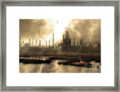 Brave New World 7d10358 V3 Sepia Framed Print by Wingsdomain Art and Photography