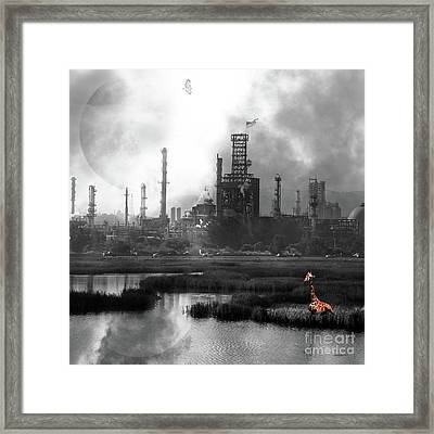 Brave New World 7d10358 V3 Square Bw Framed Print by Wingsdomain Art and Photography