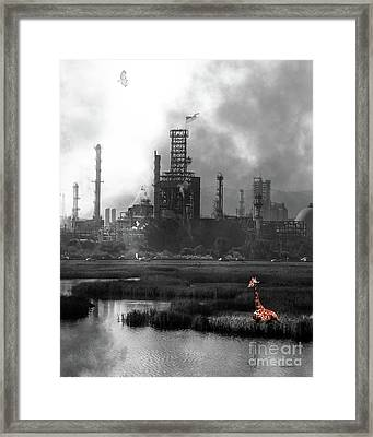 Brave New World 7d10358 V3 Vertical Bw Framed Print by Wingsdomain Art and Photography