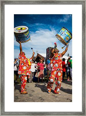 Jazz Fest Brazilian Parade Framed Print by Terry Finegan