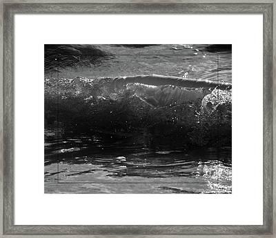 Breach Inlet Morning Waves 1 Framed Print by Melissa Wyatt