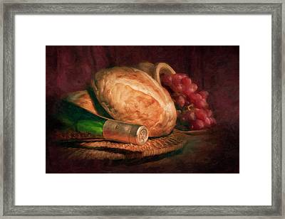 Bread And Wine Framed Print by Tom Mc Nemar
