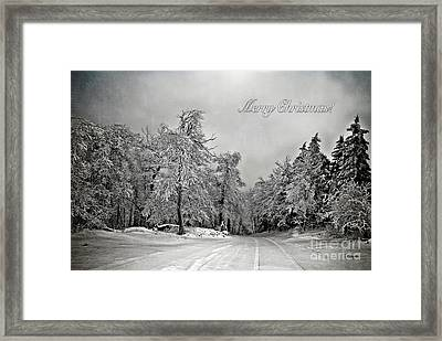 Break In The Storm Christmas Card Framed Print by Lois Bryan